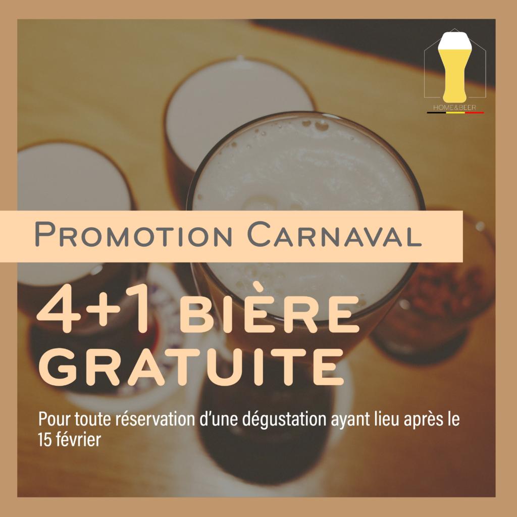 Activité en ligne - Promotion 4 bières plus une gratuite